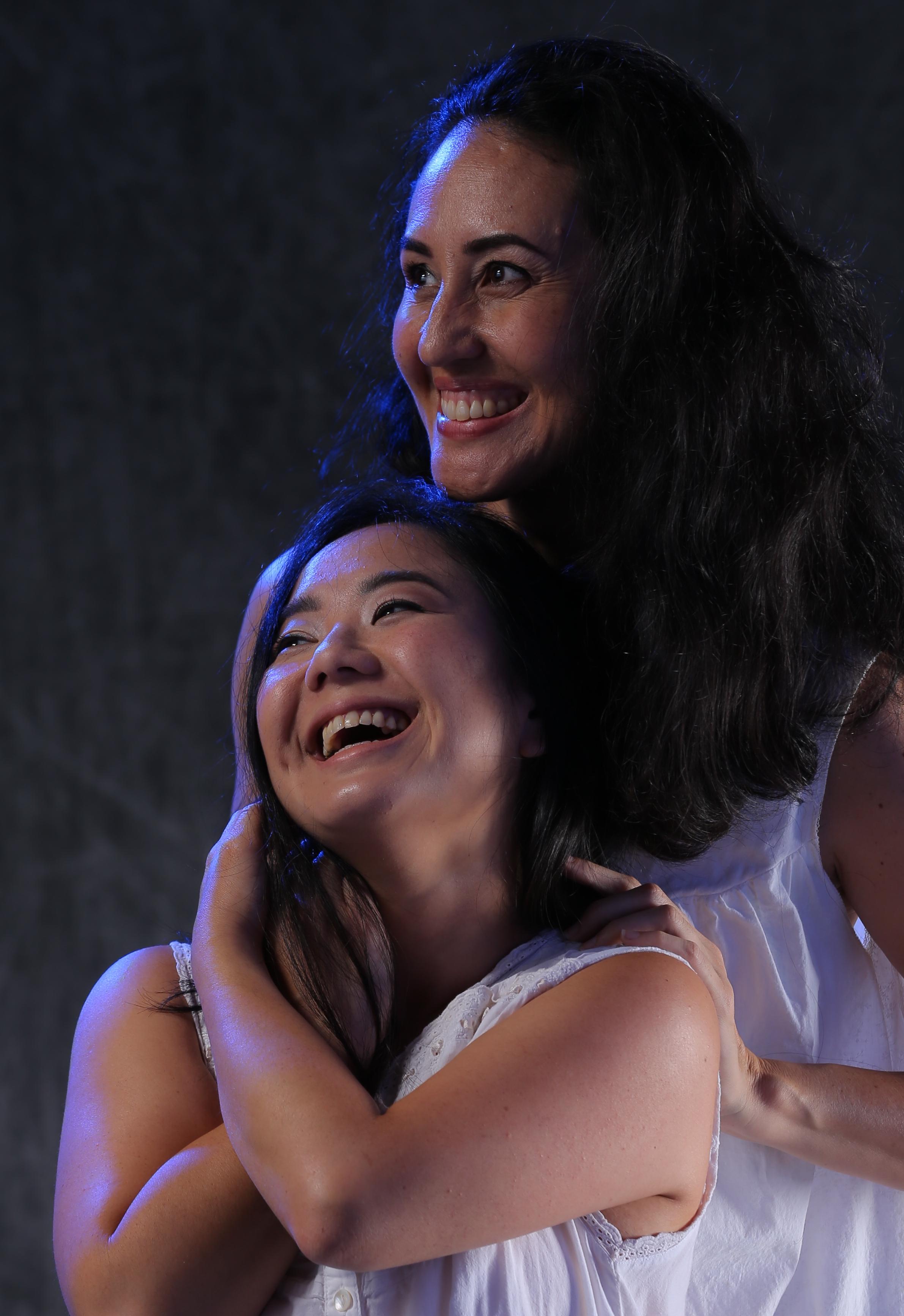 Christina Uyeno and Annie Lokomaikaʻi Lipscomb as the lovers Rifkele and Manke. Photo: Brad Goda
