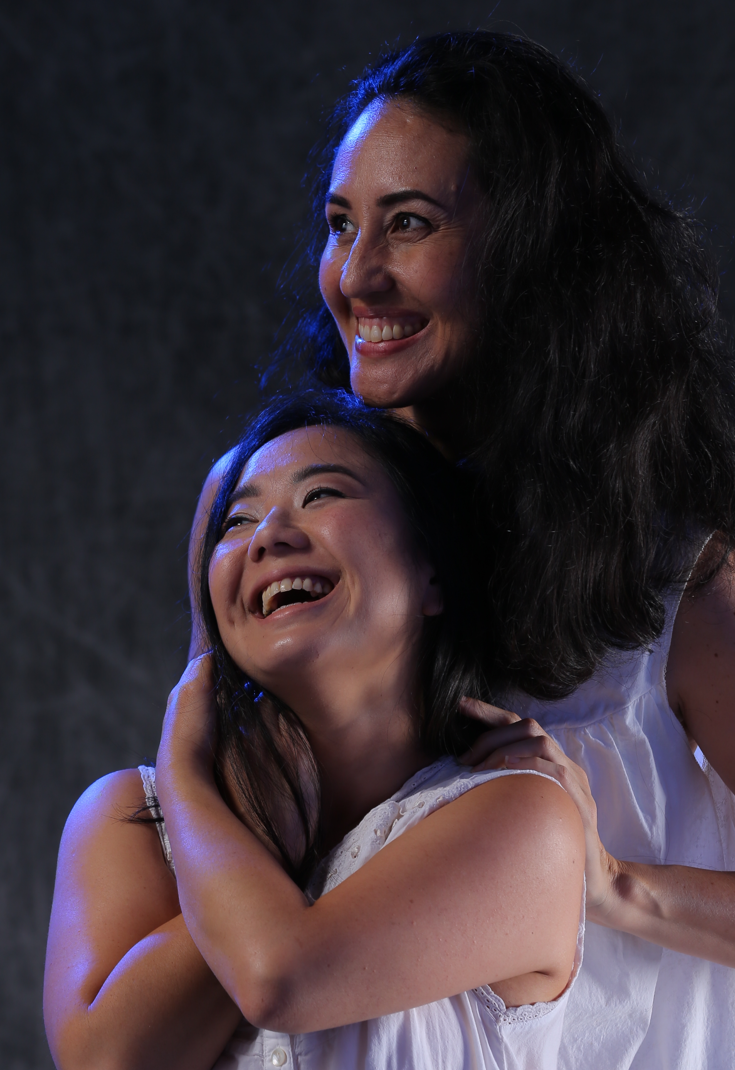 Christina Uyeno and Annie Lokomaikaʻi Lipscomb as the lovers Rifkele and Manke. Photo: Brad Goda