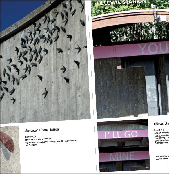 Sporveien  Brosjyre: Kunst på T-banen