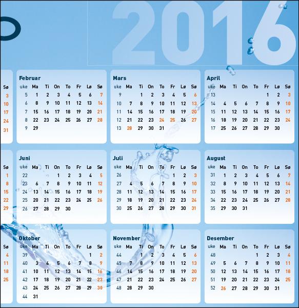 E-CO Energi  Musematte med kalender
