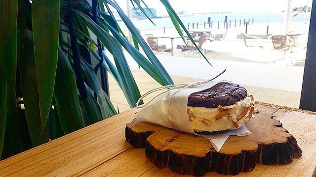 New desserts are coming your way! Check out this peanut butter and pretzel ice cream sandwich 😍 #summer #menu #restaurantsaustralia #makeitdelicious #delicious #discovertasmania #tassiefoodguide #tasmania #dessert #icecream
