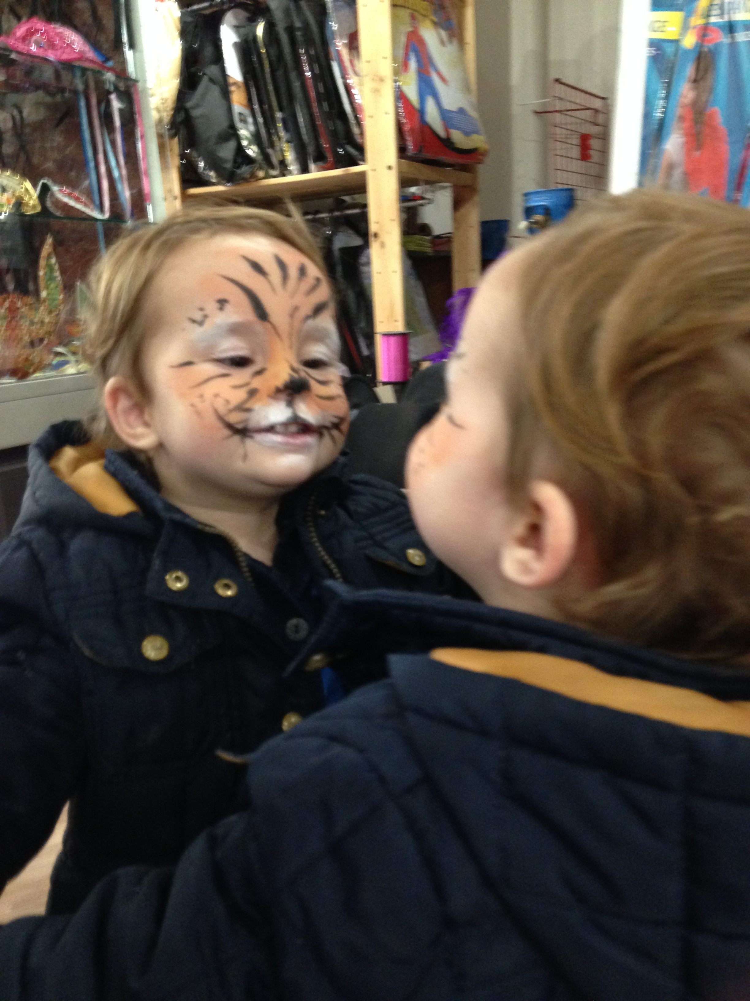 Our son, Antoine, embracing his inner tiger! :)