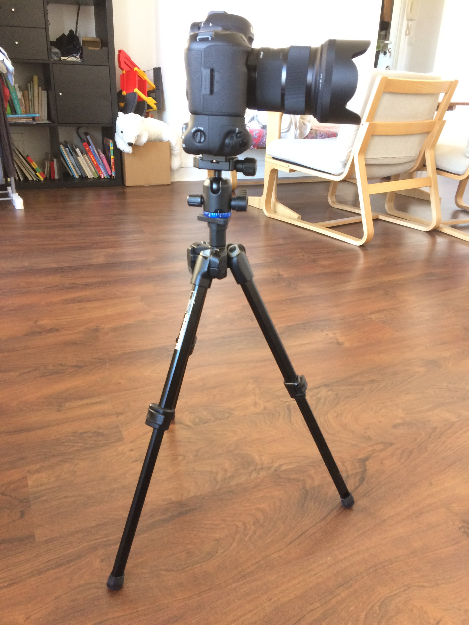 The tripod at it's maximum height of 59cm