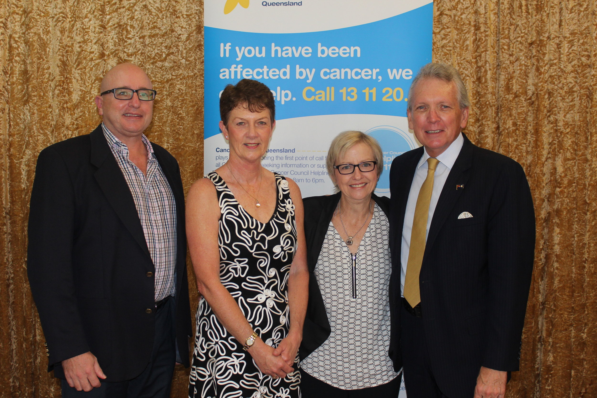 Dr Jeremy Long, Chris McMillan,Christine Bleijie and Mark McArdle.