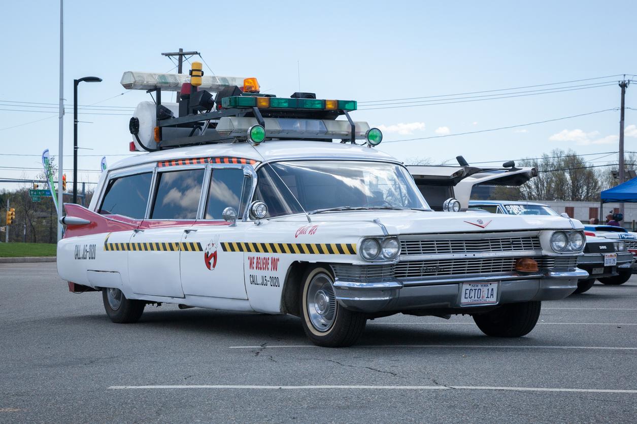 "A Replica of Ghostbuster's ""Ecto 1""  Photo Credit: Erin Cadigan"