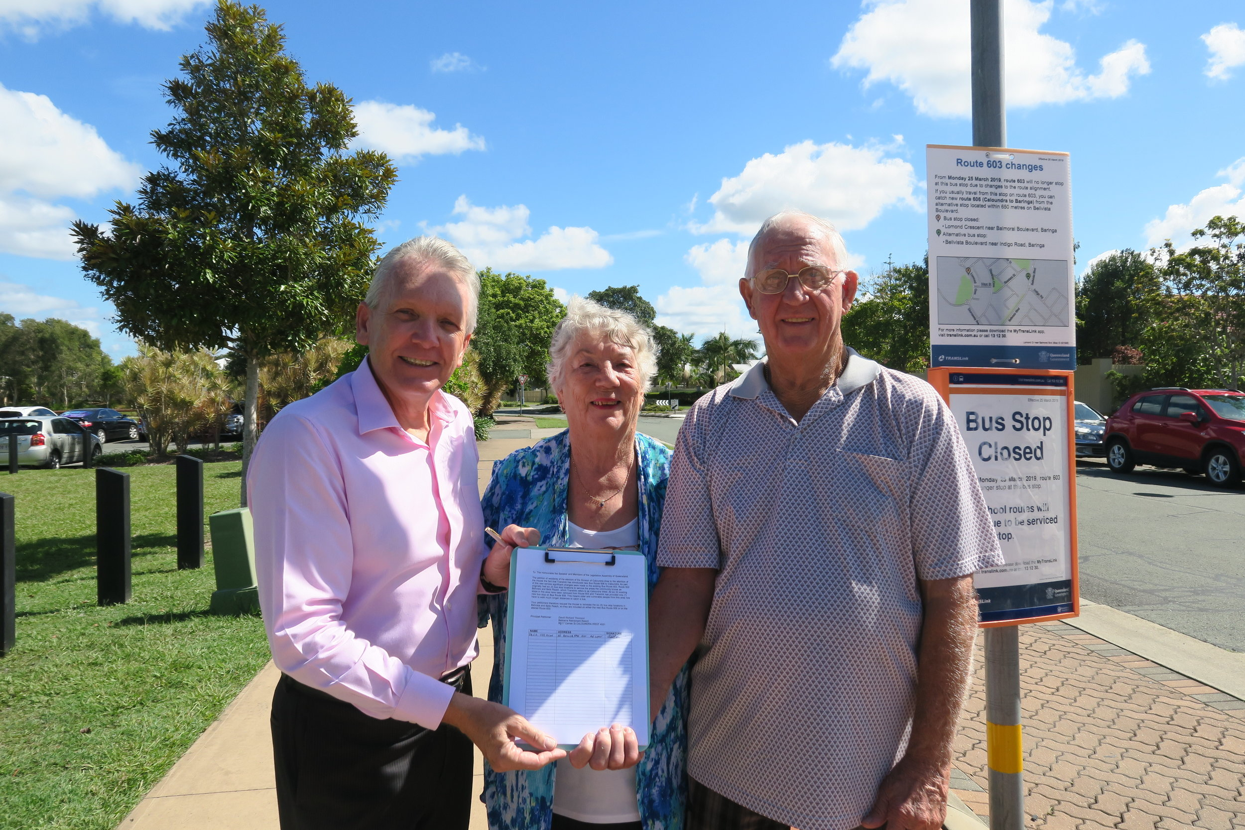 Mark McArdle sponsored the community petition launched by Bellvista resident David Thomson and his wife Robyn