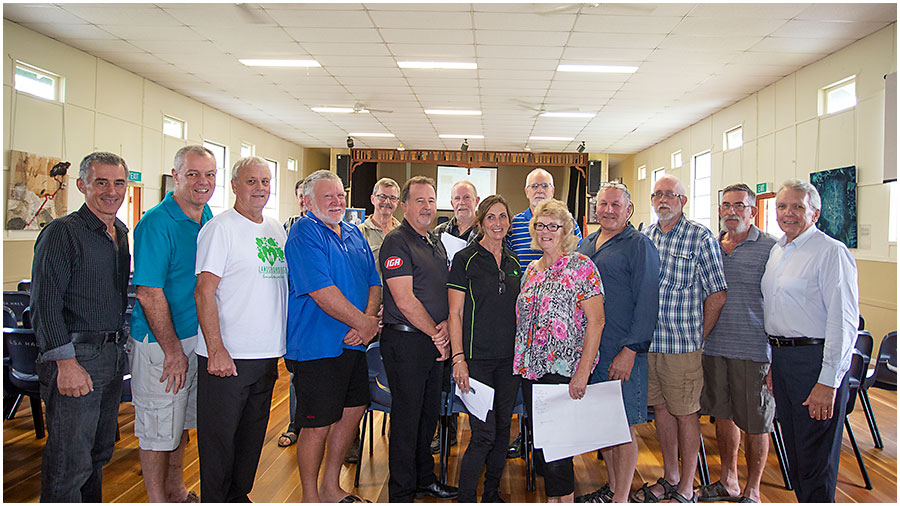 New Landsborough Reference Group Members include: Dr Michael Vuocolo, Tim Fitzpatrick, Chris Bruhn, Ian Venning, Chris Brooker, Ashley Grigor, Glenn Kirkpatrick, Cheryl Rutland, Stephen Palmer, Juanita Flett, Jeff Harris, Ian Hope and Len Berthelsen along with Ken Husband and Robert Eadie (not pictured)
