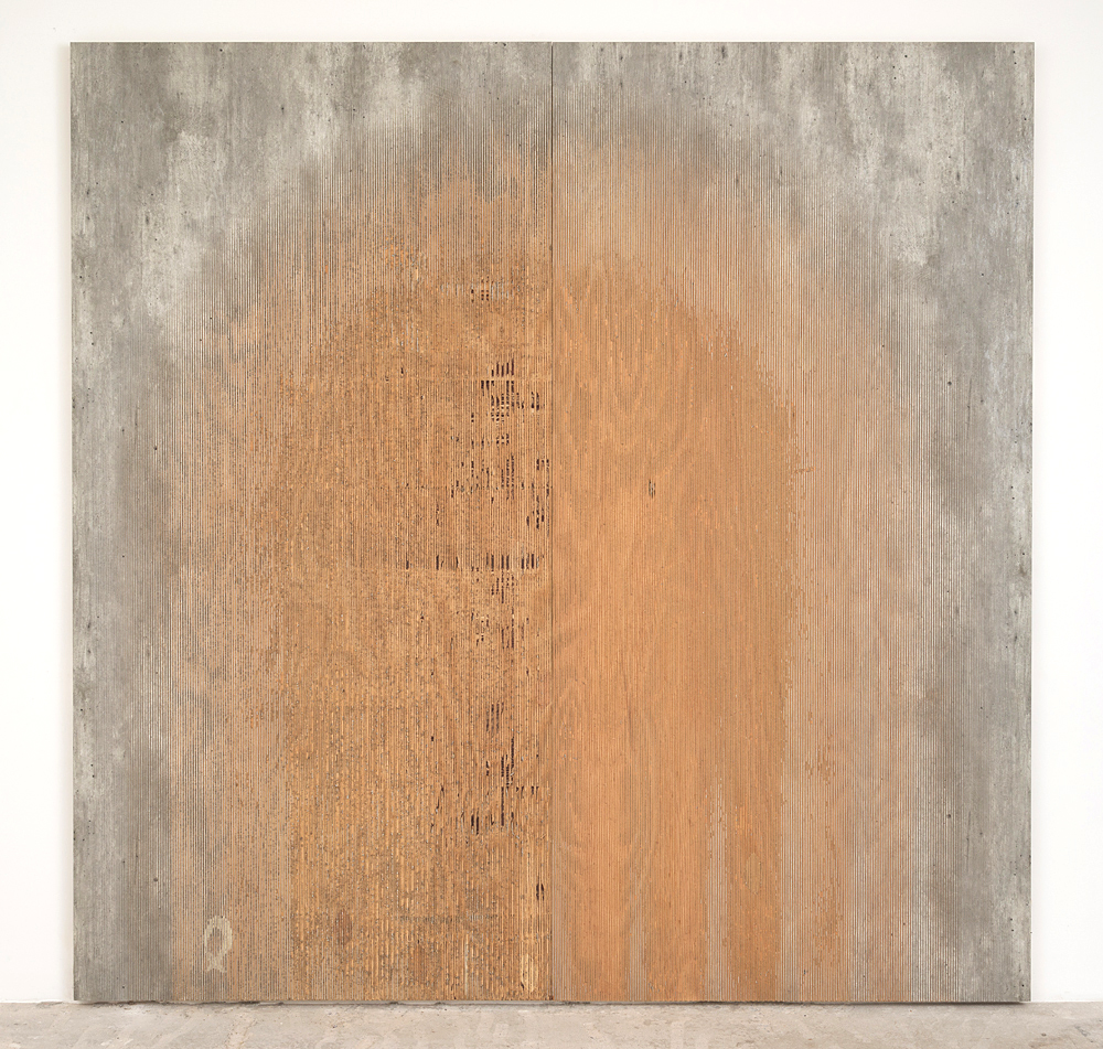 Michael DeLucia   Ghost , 2015 High pressure laminate on plywood 96 x 96 x .75 inches