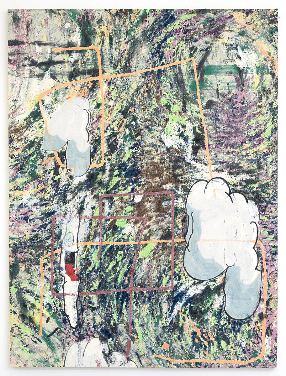 Chris Hood    Rank , 2015  Oil on canvas  79.75 x 59 inches