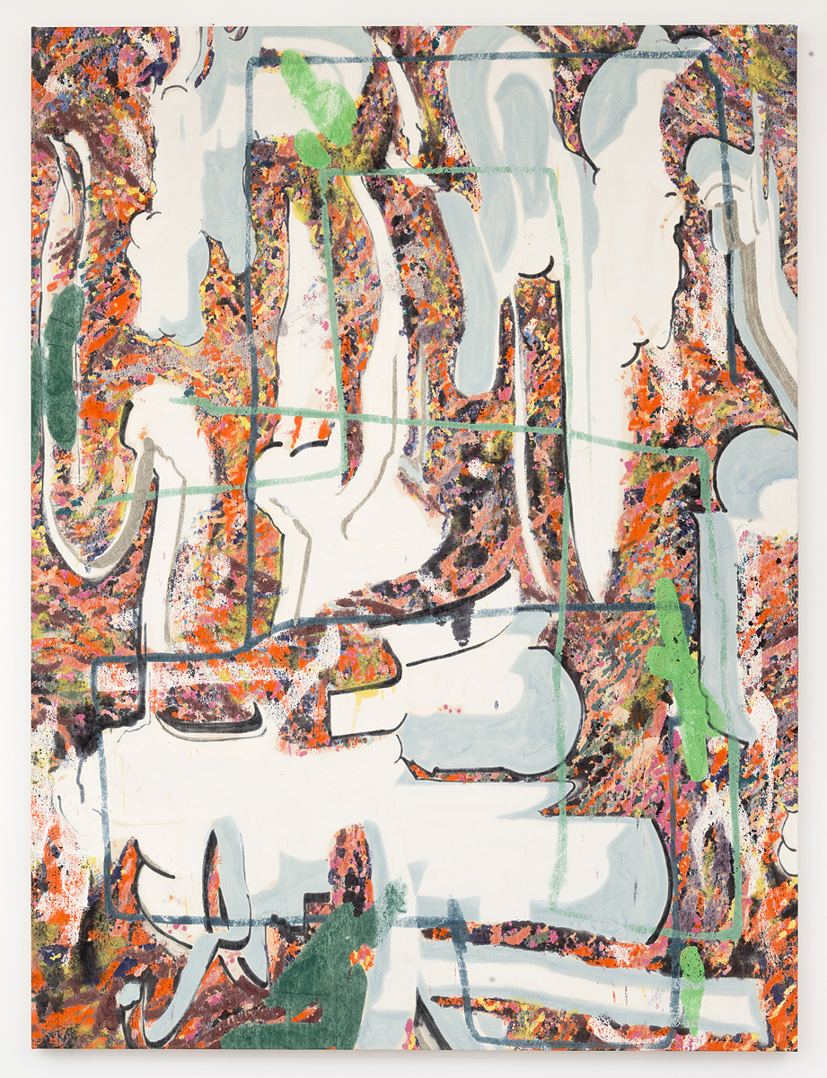 Chris Hood    Dissipate Wildly , 2015  Oil on canvas  79.75 x 59 inches