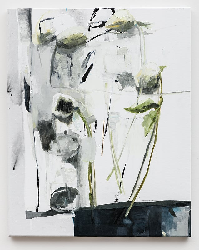 Dana DeGiulio    Awful but cheerful , 2016  Oil on canvas  25 x 20 inches