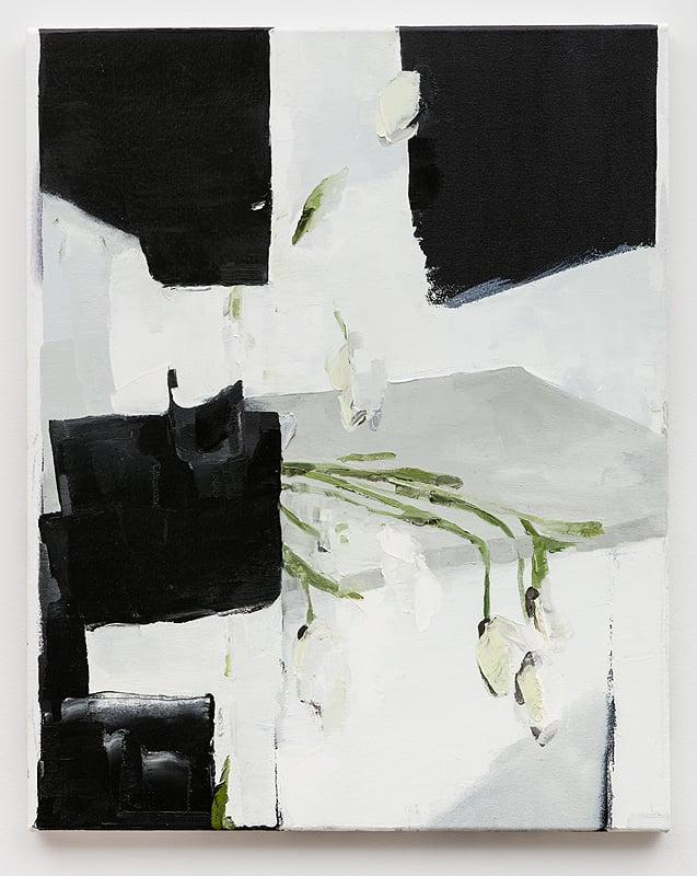 Dana DeGiulio    Attendant , 2015  Oil on canvas  25 x 20 inches