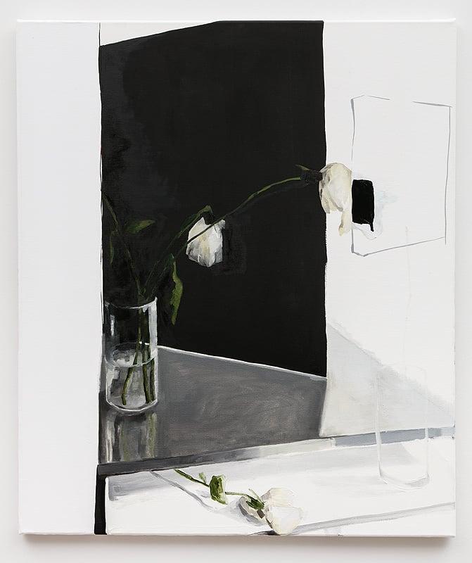 Dana DeGiulio    Pilot , 2015  Oil and enamel on canvas  33 x 28 inches