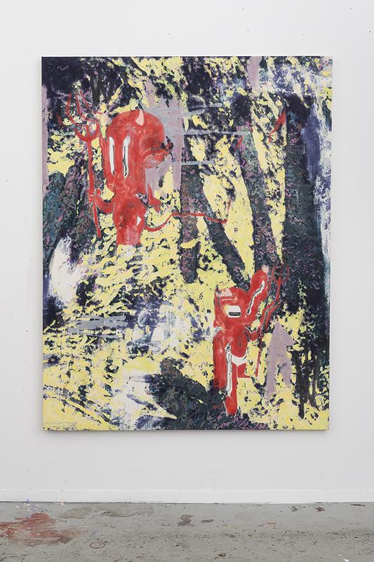 Chris Hood   Devil's Melt , 2016  Oil on canvas  70 x 54 inches  177.80 x 137.16 cm