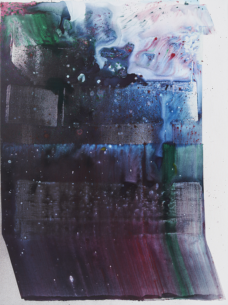 Max Frintrop    Faust , 2016  Pigments, ink, acrylic on canvas  200 x 150 cm  78.7 x 59 inches