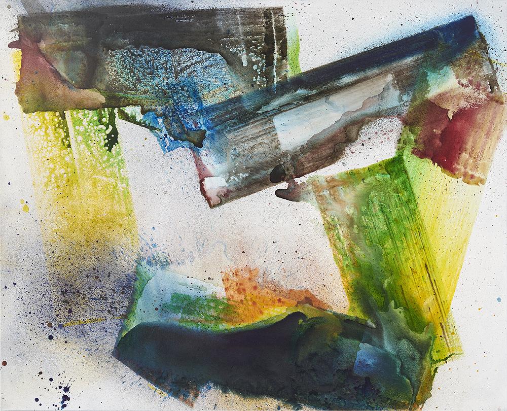 Max Frintrop    Dye a Happy Man,  2016  Pigments, ink, acrylic on canvas  170 x 210 cm  66.9 x 86.6 inches
