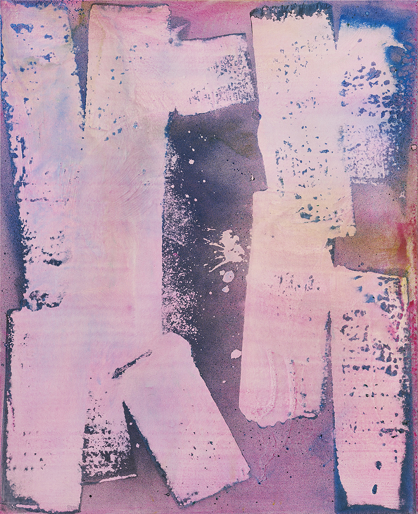 Max Frintrop    Agnes Martins Drivers License , 2016  Pigments, ink, acrylic on canvas  160 x 130 cm  62.9 x 51.2 inches