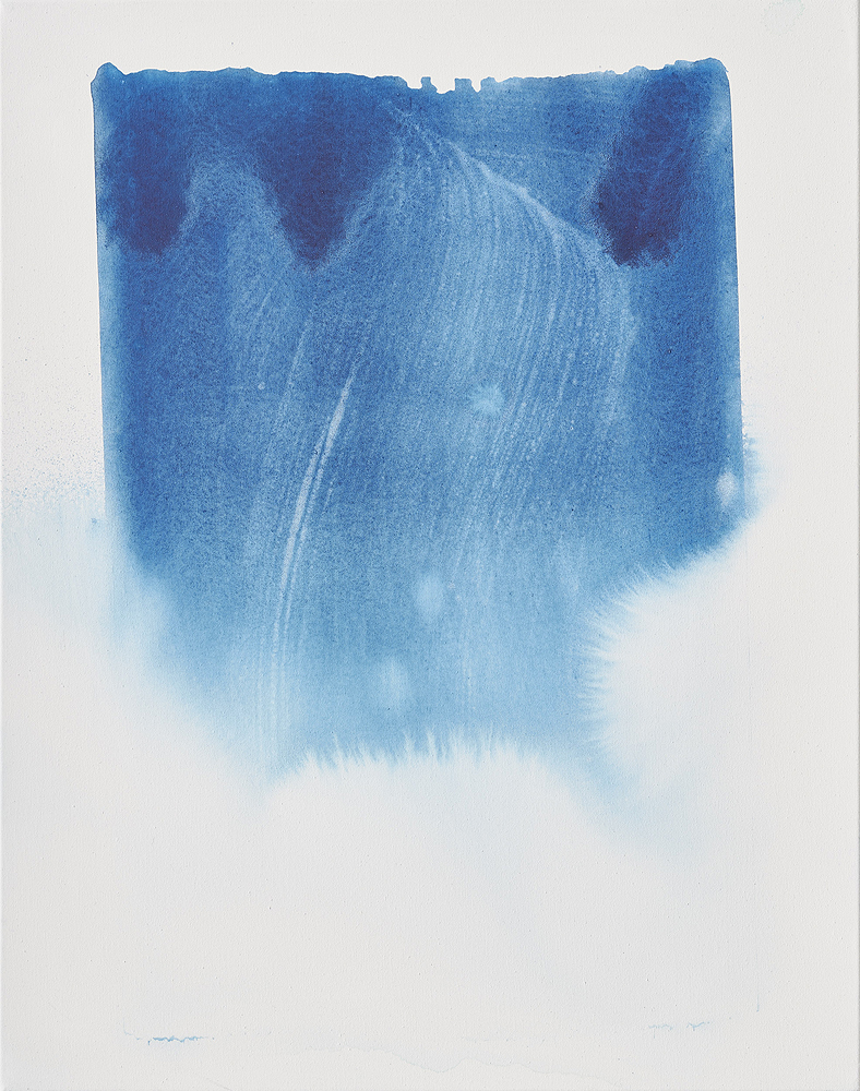 Max Frintrop    Fade A , 2016  Pigments, ink, acrylic on canvas  70 x 55 cm  29.5 x 21.6 inches