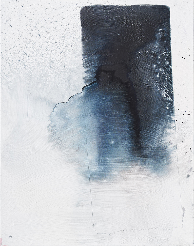 Max Frintrop    Fade Ab , 2016  Pigments, ink, acrylic on canvas  70 x 55 cm  29.5 x 21.6 inches