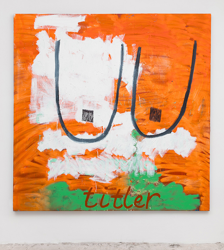Lauren Faigeles    Titler , 2015/2016  Oil on canvas  72 x 72 inches