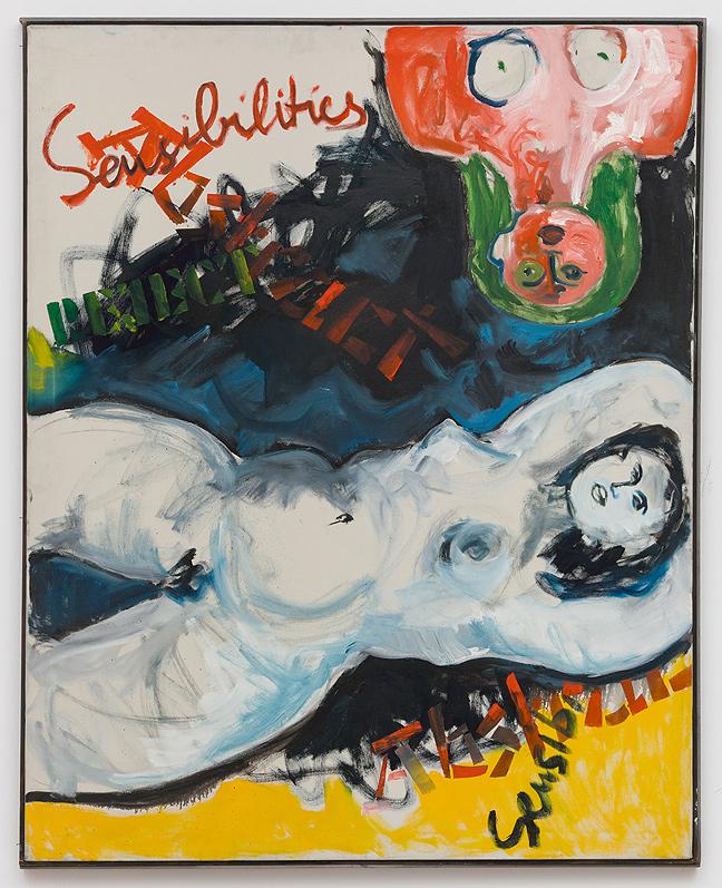 Miriam Laufer    White Woman & Torso , c. 1965  Oil on canvas  50 x 40 inches