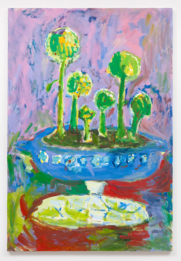 Adrianne Rubenstein    The Enchanted Broccoli Forest , 2016  Oil on panel  34 x 23 inches