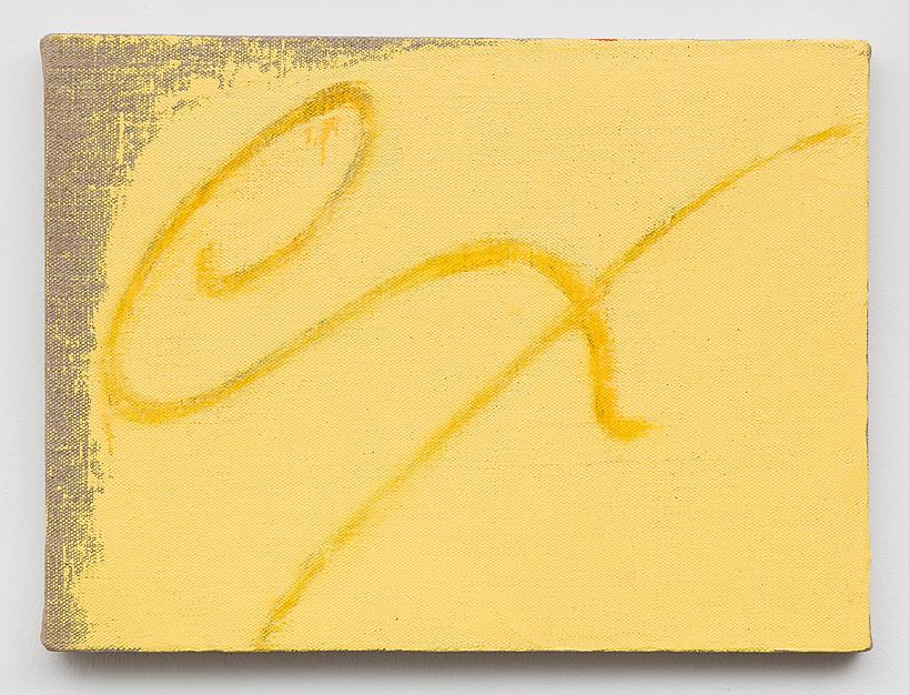 Mira Schor    ex , 1998  Oil on linen  12 x 16 inches