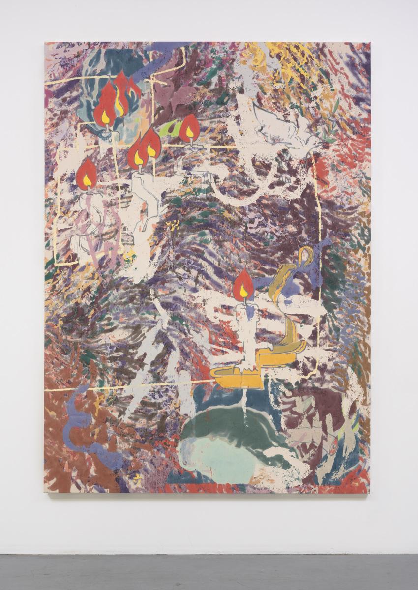 Chris Hood   So Many Nights , 2016  Alkyd, MSA, Varnish, and enamel on canvas  94.5 x 135 inches  240 x 343 cm