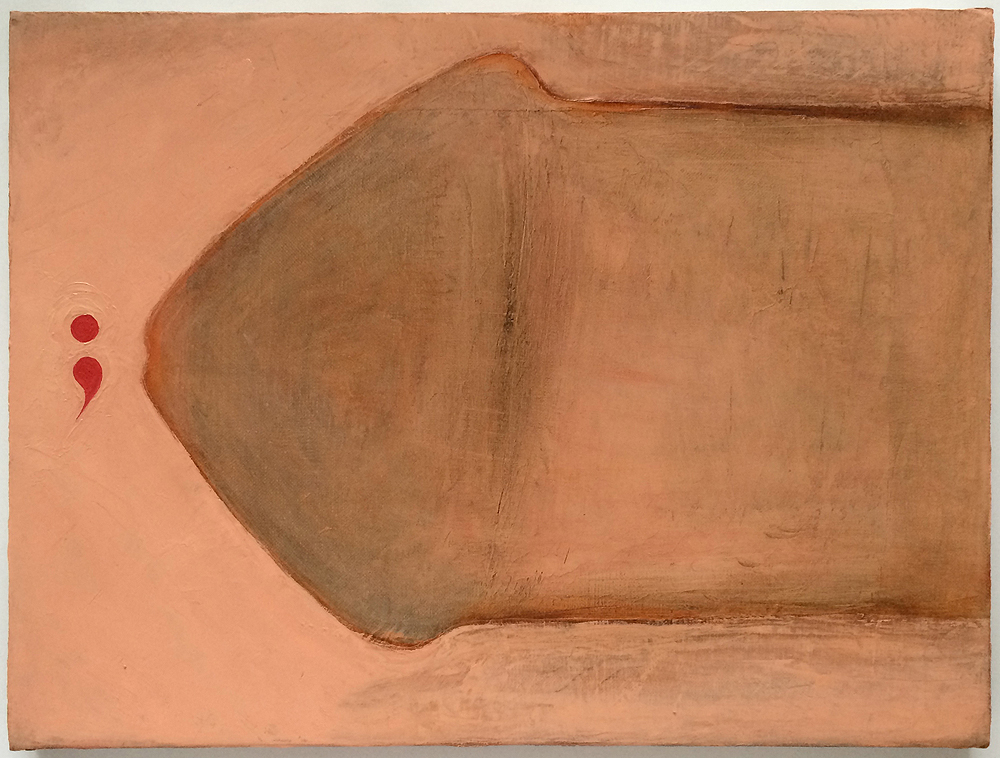 Mira Schor   Boy Meets Girl , 1993  Oil on linen  12 x 16 inches