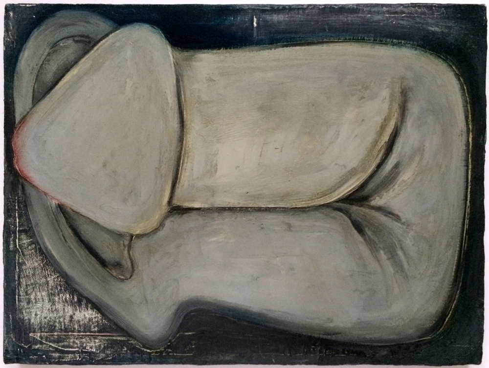 Mira Schor   Grey Snake , 1992  Oil on linen  12 x 16 inches