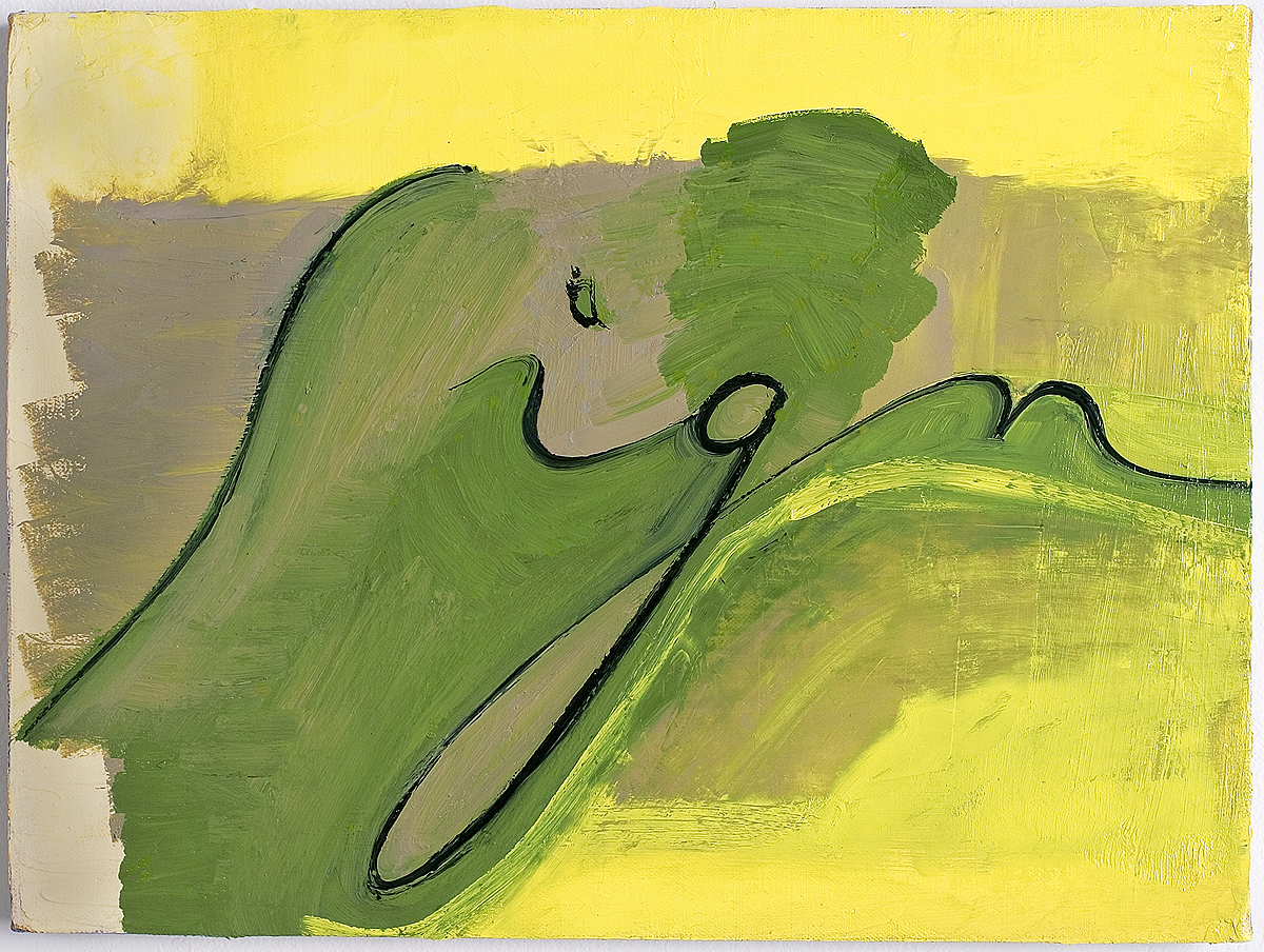 Mira Schor   Sign , 2005  Oil on linen  12 x 16 inches