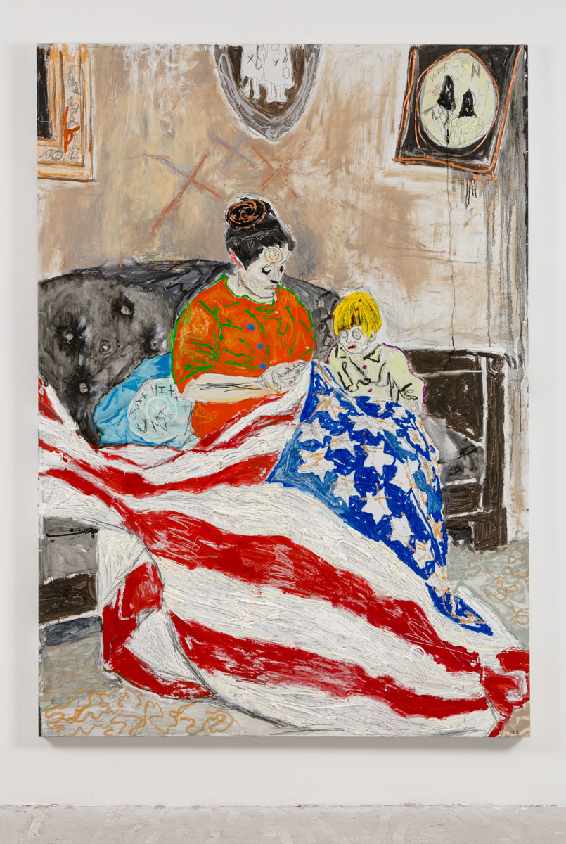 Farley Aguilar   Mother and Child , 2016  Oil on linen  86 x 61 inches