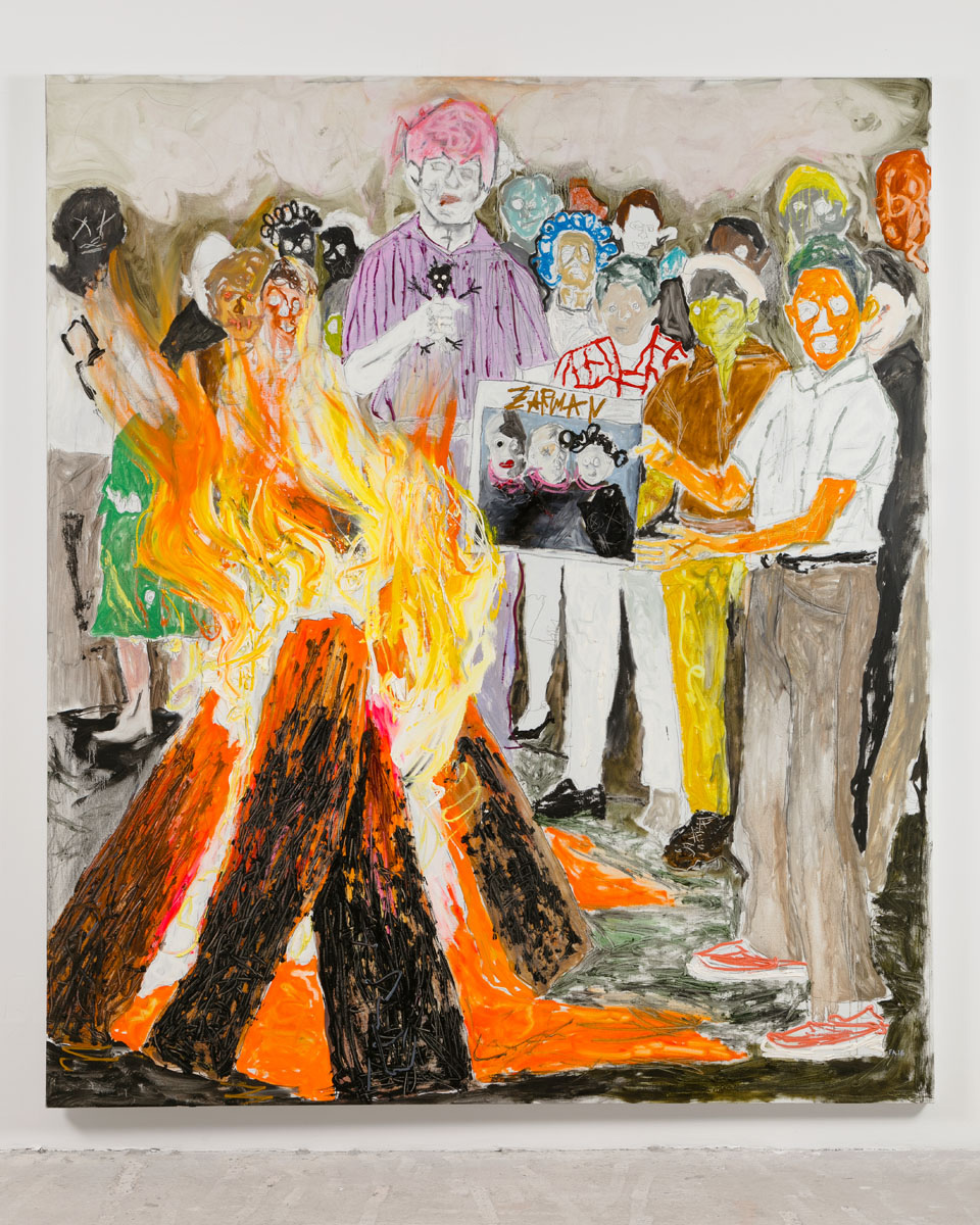 Farley Aguilar   The Burning , 2016  Oil on linen  90.5 x 78 inches