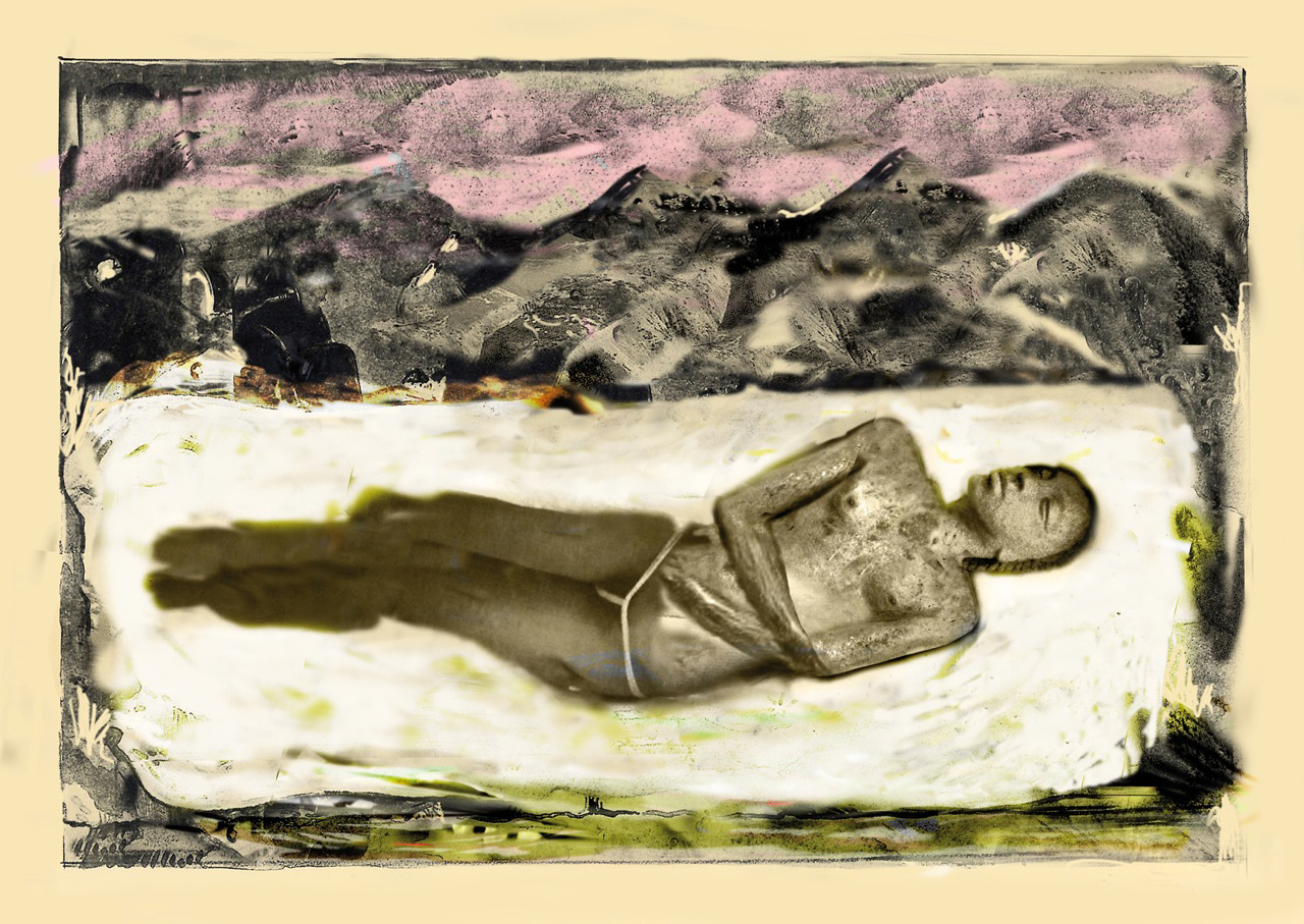 Markus Selg    Dream , 2013  Sublimation print on canvas  33.25 x 46.25 inches