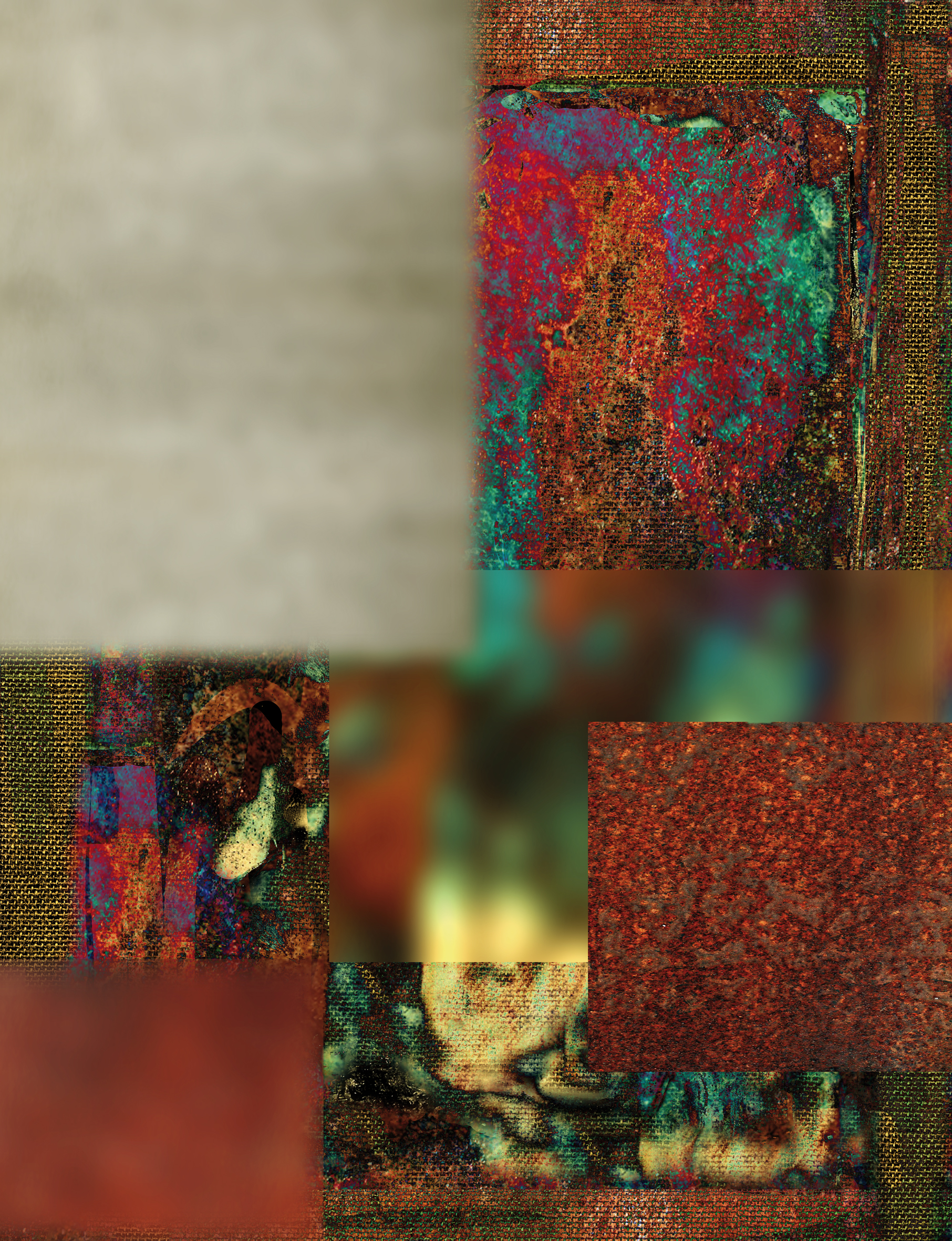 Markus Selg    Data Dream I , 2014  Sublimation print on canvas  81.875 x 61.75 inches