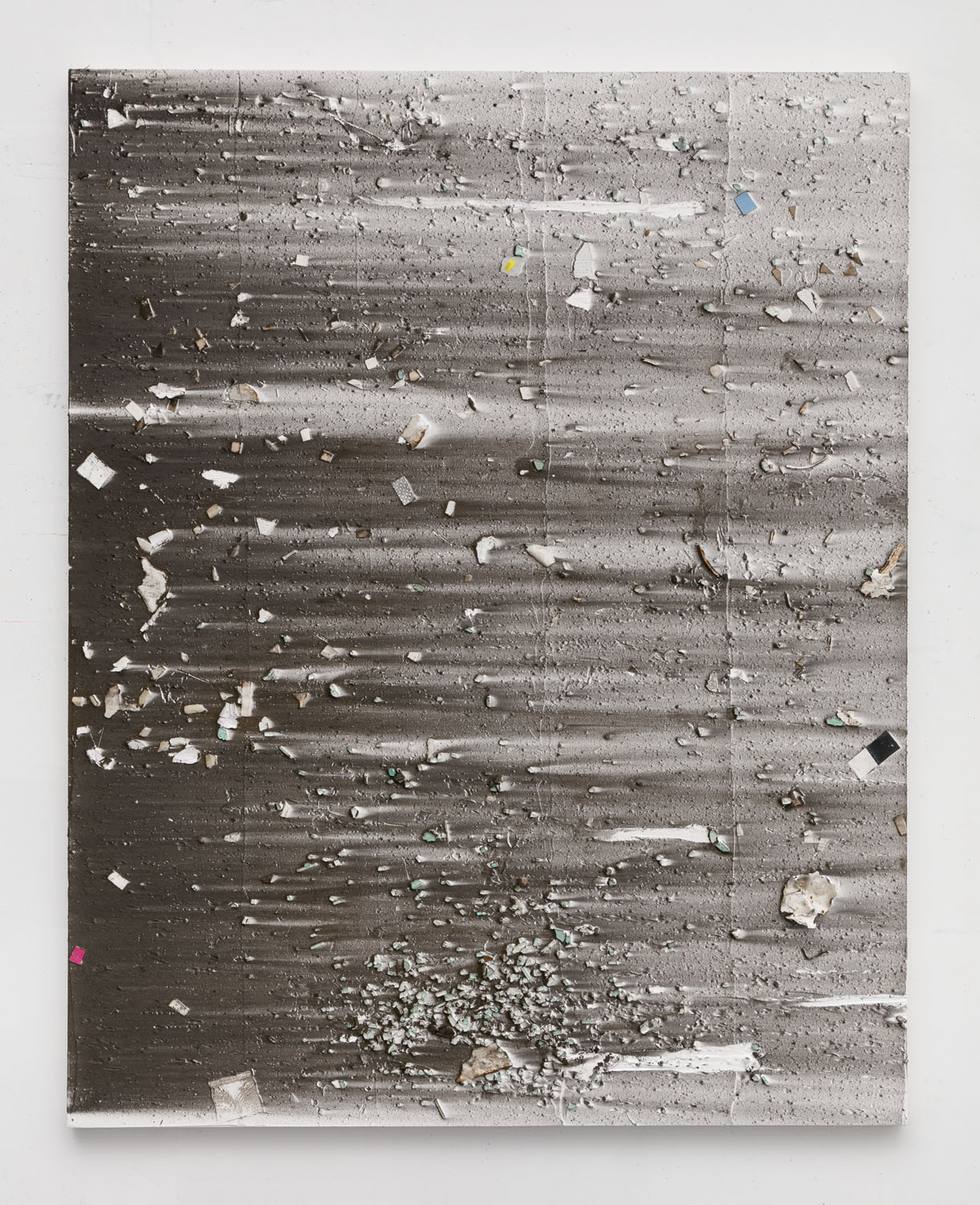 Thomas Fougeirol   Untitled , 2016  Mixed media on canvas  63 x 51 inches