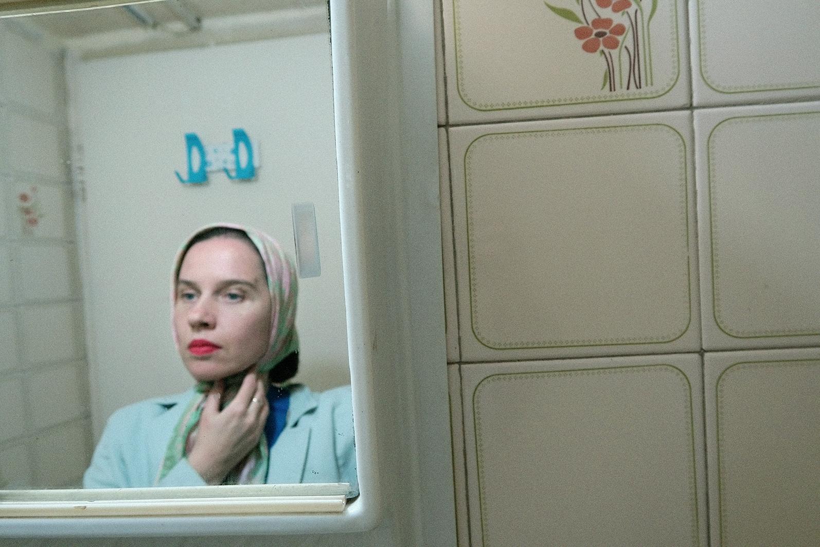 Aneta Grzeszykowska   Iranian Film Still #1 , 2015  Pigment ink on cotton paper  100 x 66.5 cm