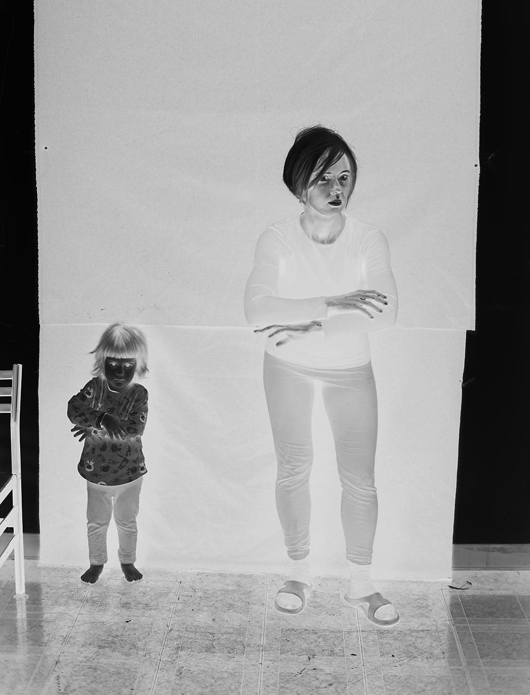 Aneta Grzeszykowska   Negative Book #25 , 2012-2013  Pigment ink on cotton paper  50 x 38 cm