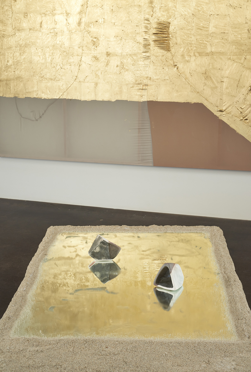 Erica Mahinay   thin skins, infinity pools, and sand slumps   Installation view at  Fused Space/Curated by Jessica Silverman  San Francisco, US  March 23 - May 7, 2015