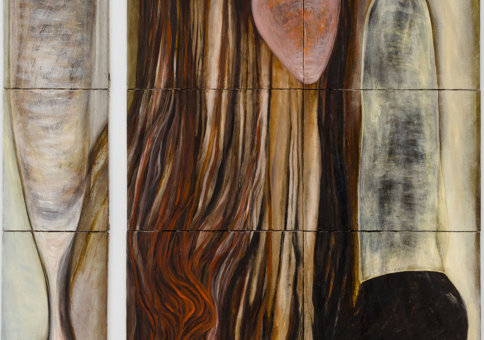 Mira Schor   Dicks or Impregnation of the Universe , 1988  Oil on 21 canvases  Detail view