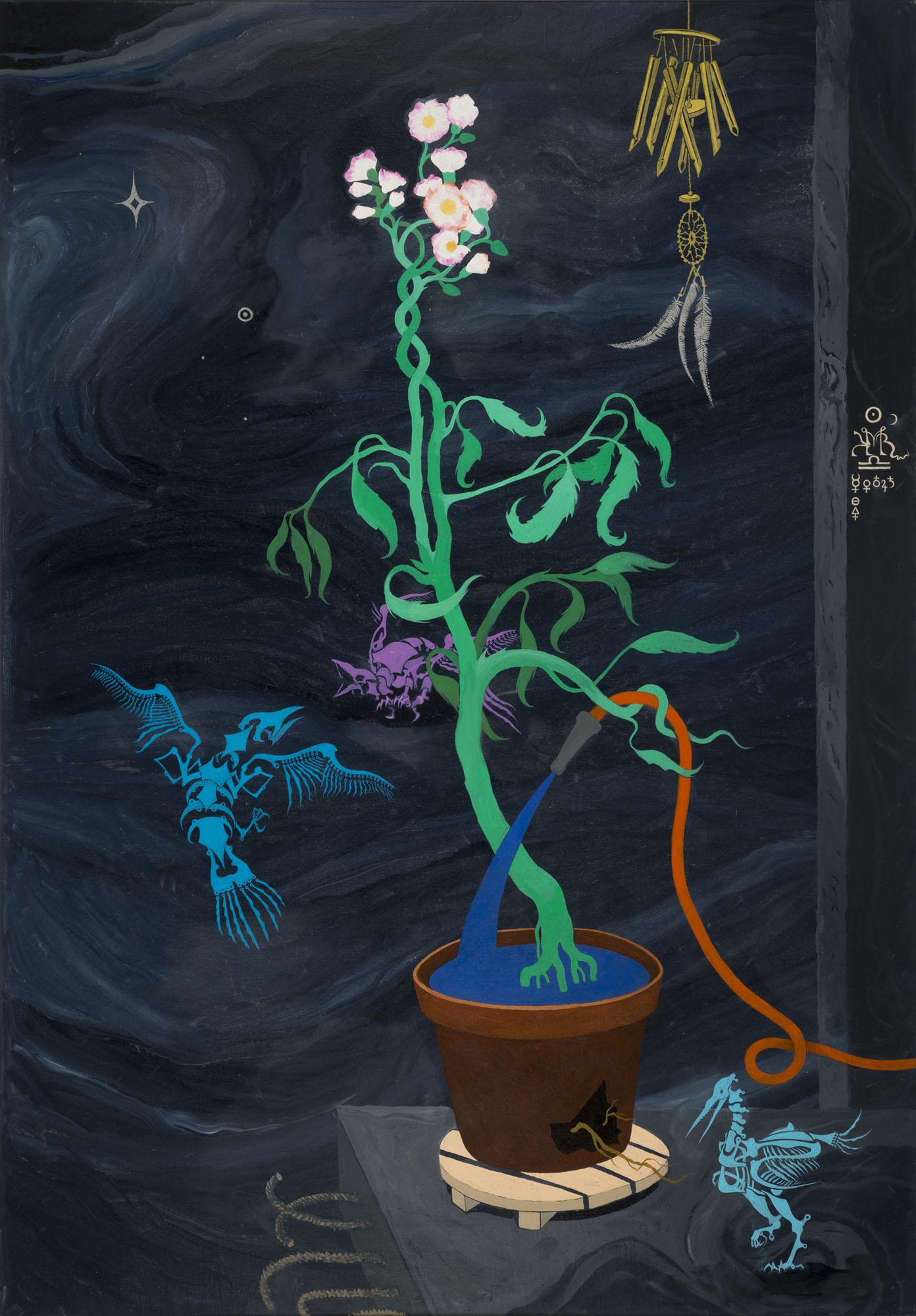 Mi Kafchin   Self-Sufficient Plant , 2016  Oil on canvas  181 x 126 cm  71.25 x 50 inches