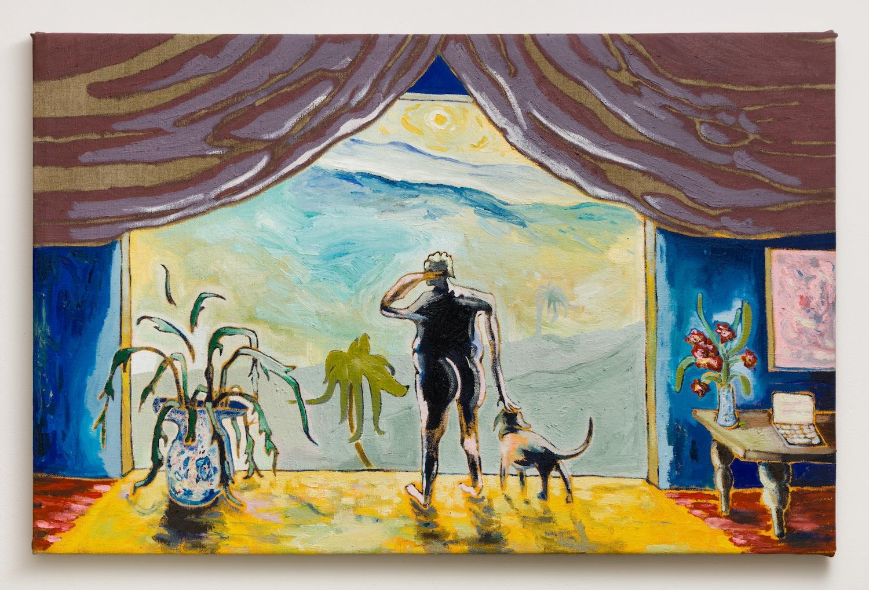 Pierre Knop   Caspar , 2018  Oil on linen  26.625 x 39.375 inches
