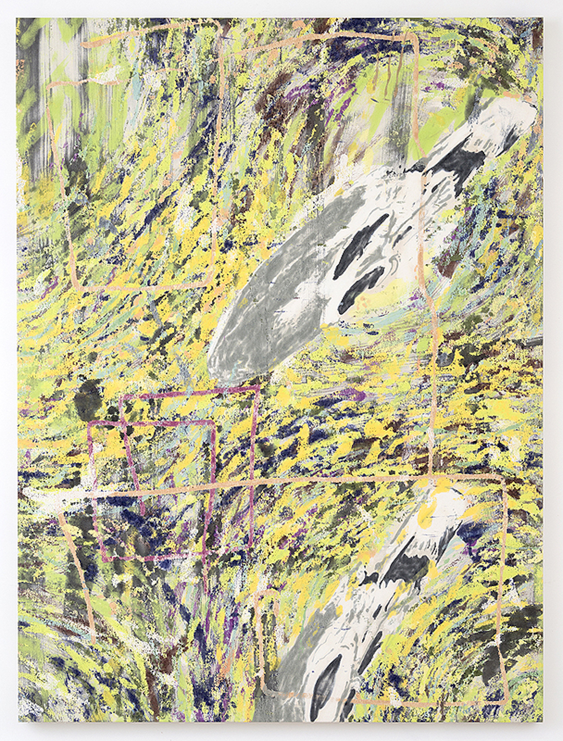 Chris Hood   IRL (Double Anamorph) , 2015  Oil on canvas  79.75 x 59 inches  202.57 x 149.86 cm