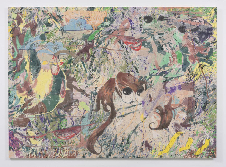 Chris Hood   Broken Bloom , 2016  Alkyd, MSA Varnish, and enamel on canvas  94.5 x 135 inches