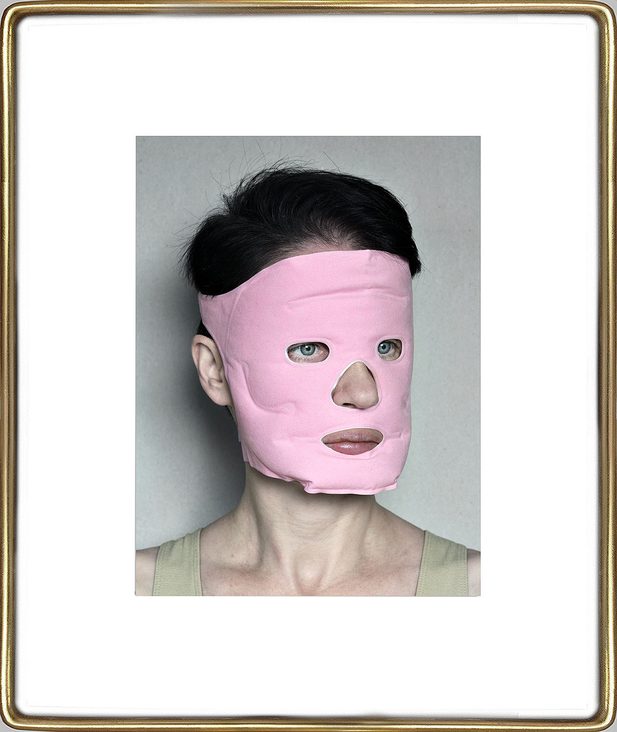 Aneta Grzeszykowska   Beauty Mask #11 , 2017  Pigment ink on cotton paper  16.93 x 12.40 inches  23.82 x 19.23 inches (framed)  Edition of 3 + I A.P.