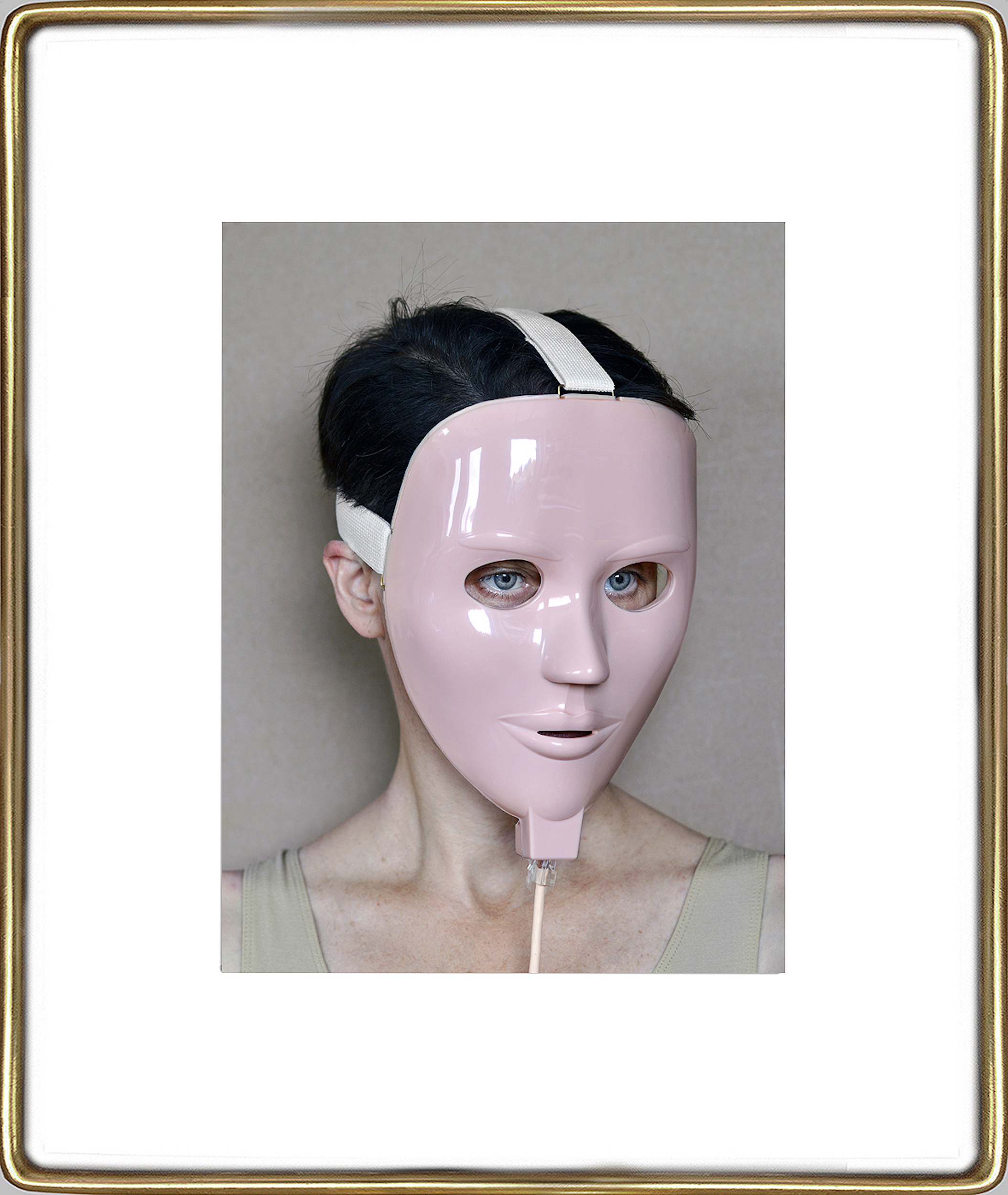 Aneta Grzeszykowska   Beauty Mask #10 , 2017  Pigment ink on cotton paper  16.93 x 12.40 inches  23.82 x 19.23 inches (framed)  Edition of 3 + I A.P.