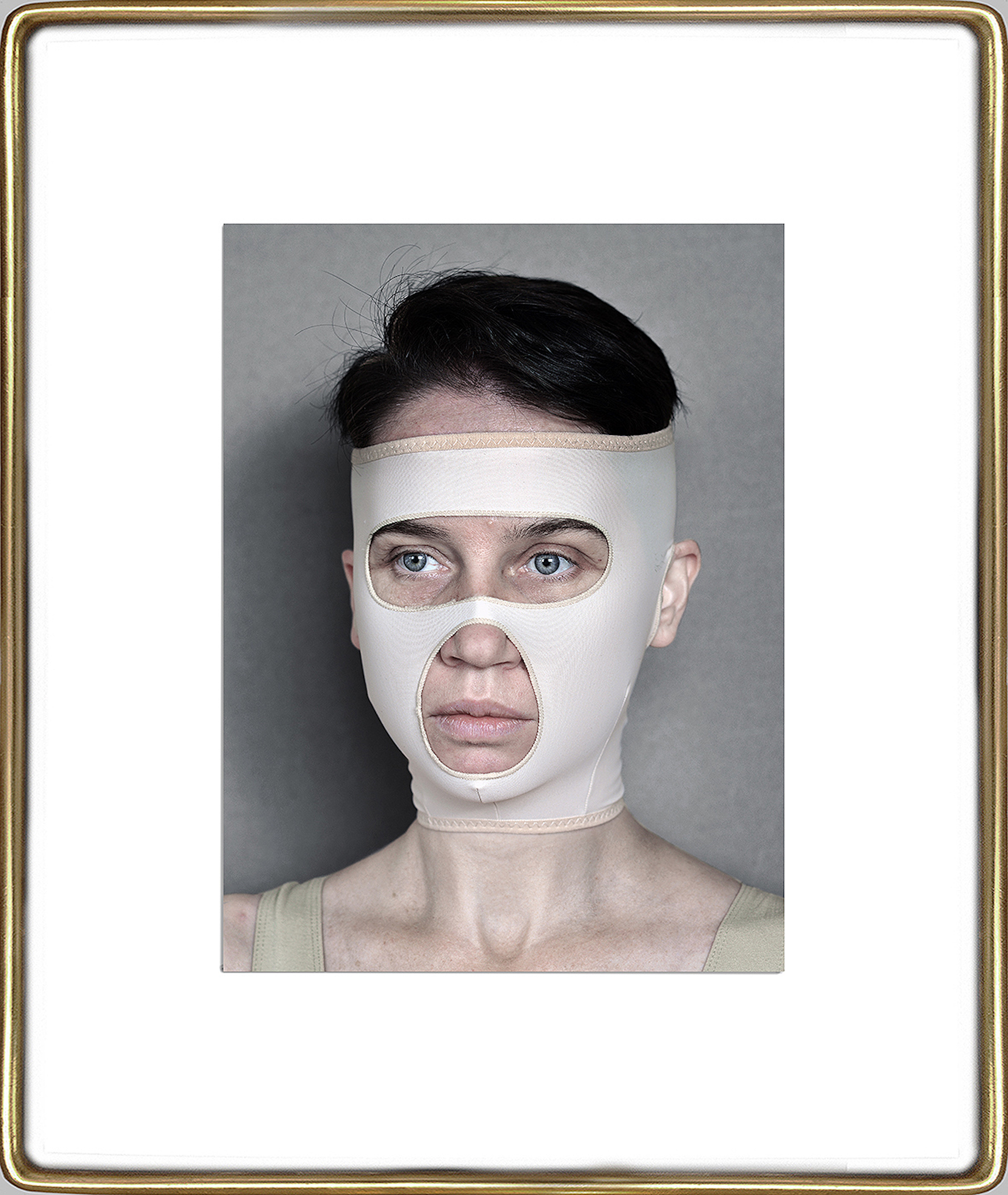 Aneta Grzeszykowska   Beauty Mask #4 , 2017  Pigment ink on cotton paper  16.93 x 12.40 inches  23.82 x 19.23 inches (framed)  Edition of 3 + I A.P.