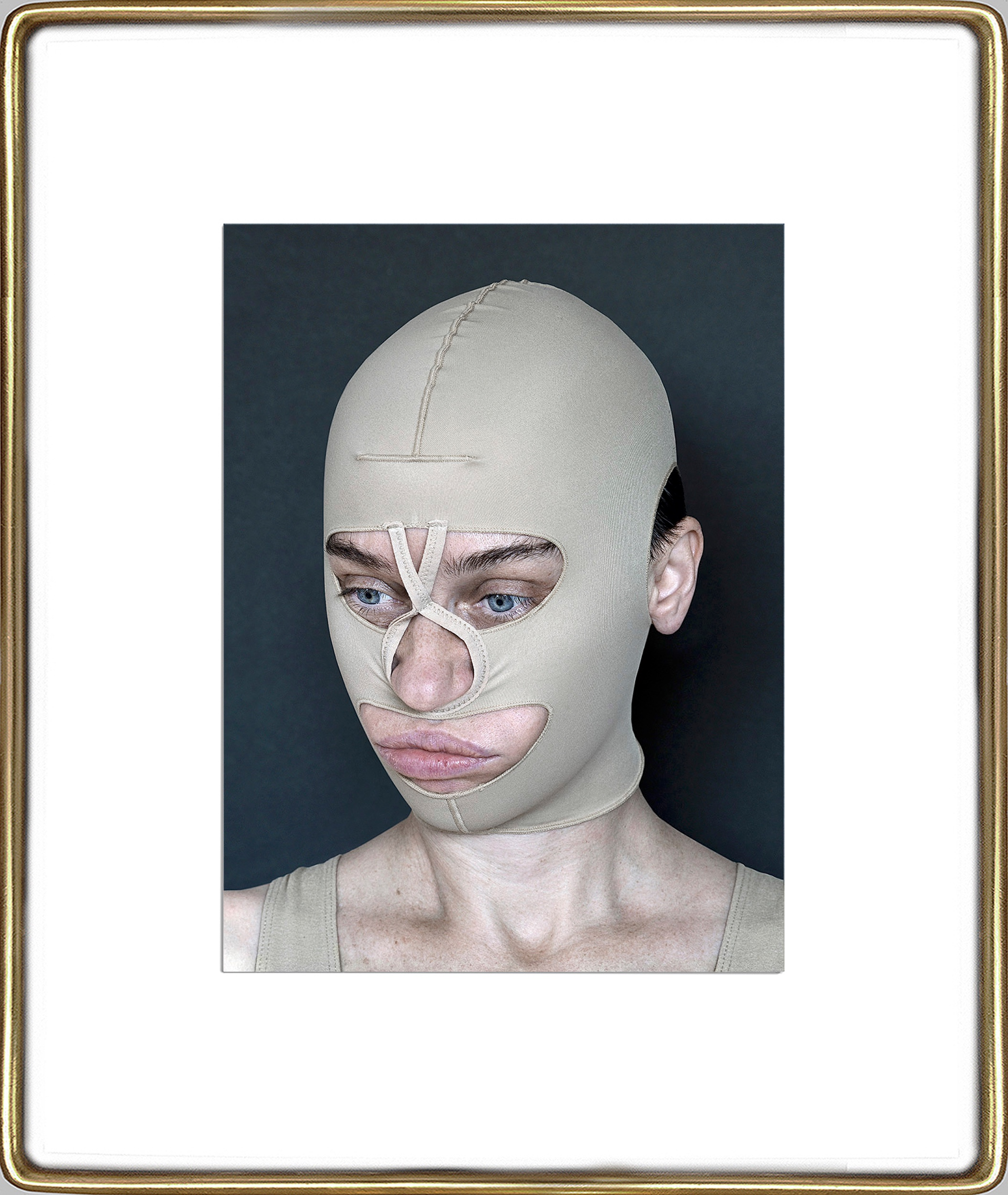 Aneta Grzeszykowska   Beauty Mask #8 , 2017  Pigment ink on cotton paper  16.93 x 12.40 inches  23.82 x 19.23 inches (framed)  Edition of 3 + I A.P.