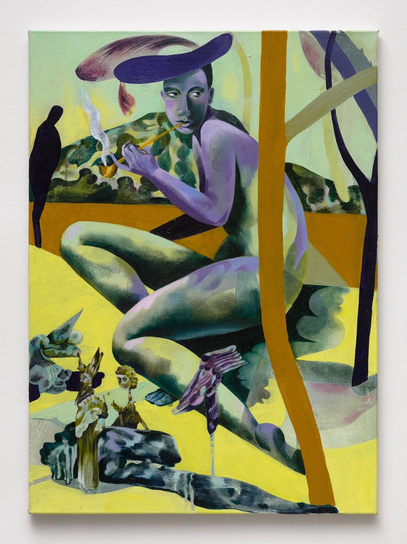 Jessie Makinson   Pimpernel Pug , 2018  Oil on canvas  27.5 x 19.75 inches