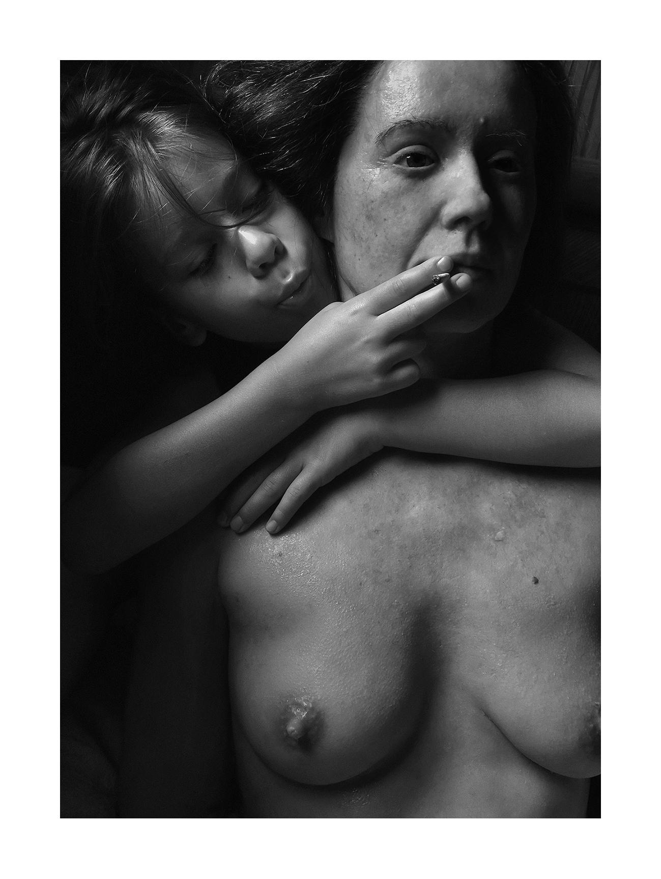 Aneta Grzeszykowska   Mama #34 , 2018  Black and white silver gelatin hand print  19.75 × 14.25 inches